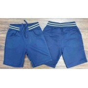 Bermuda Moletom Azul Marinho Infantil
