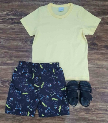 Bermuda Dinossauro com Camiseta Infantil