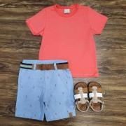 Bermuda Escorpião com Camiseta Infantil