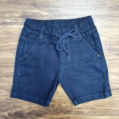 Bermuda Jeans Azul Marinho com Cordão Infantil