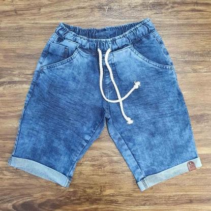 Bermuda Jeans Clara com Cordão Infantil