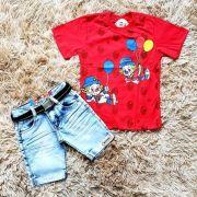 Bermuda Jeans com Camiseta Patati Patatá