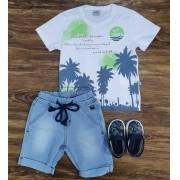 Bermuda Jeans com Camiseta Summer Infantil