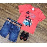 Bermuda Jeans com Camiseta Surfing