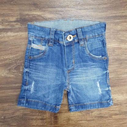 Bermuda Jeans com Detalhes Infantil