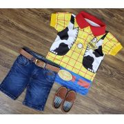 Bermuda Jeans com Polo Toy Story