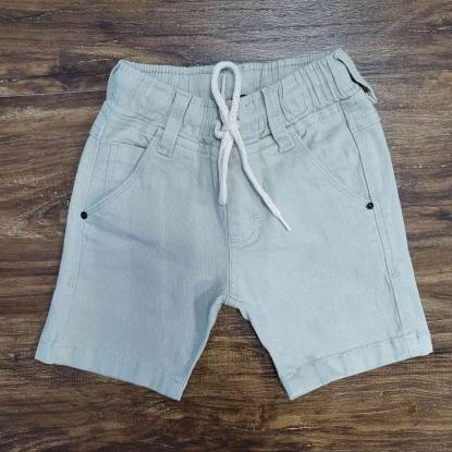 Bermuda Jeans Nude com Cordão Infantil