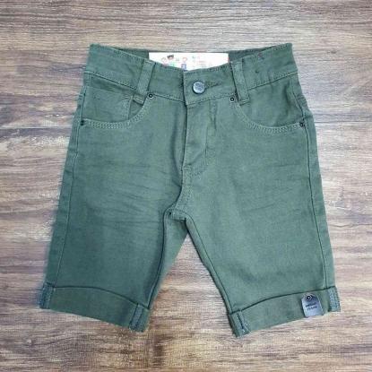 Bermuda Jeans Verde Musgo Infantil