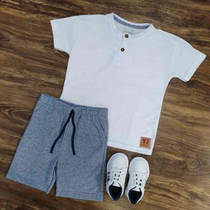Bermuda Moletom com Camiseta Infantil