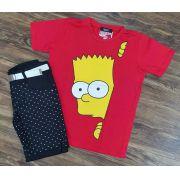 Bermuda Preta com Camiseta Simpsons Infantil
