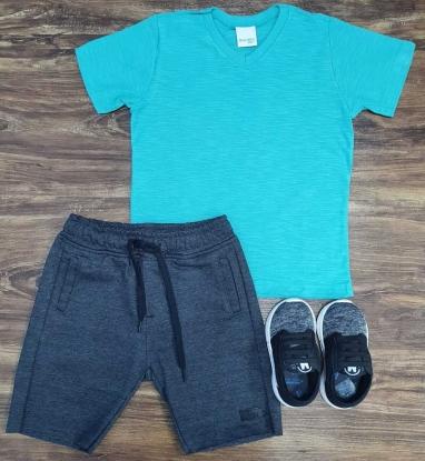 Bermuda Slim com Camiseta Infantil