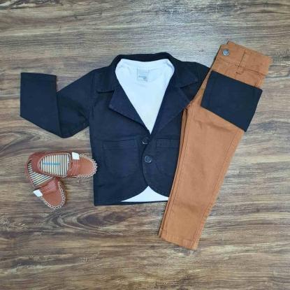 Blazer Com Camiseta e Calça Jeans Infantil