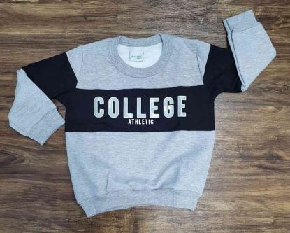 Blusa College Cinza Infantil