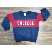 Blusa College Azul Infantil