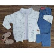 Jaqueta com Camiseta e Calça Jeans Infantil