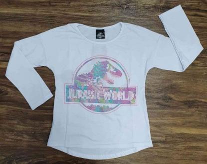 Blusa Jurassic World Branca Infantil