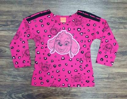 Camiseta Manga Longa Rosa Skye Patrulha Canina