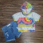 Blusa Tye Dye com Shorts Infantil