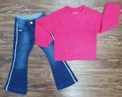 Blusão com Calça Jeans Infantil