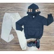Blusão Kid Ever com Calça Jogger Infantil