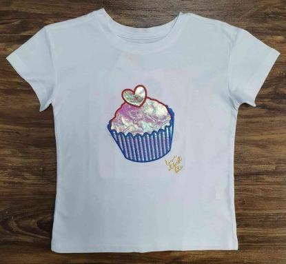 Blusinha Branca Love First Infantil