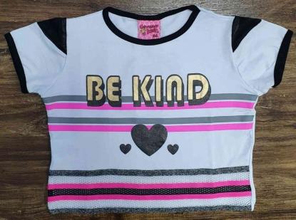 Blusinha Feminina Be Kind Infantil