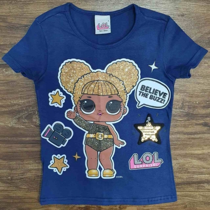 Blusinha Lol Azul Believe Infantil