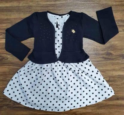 Blusinha Preta com Vestido Infantil