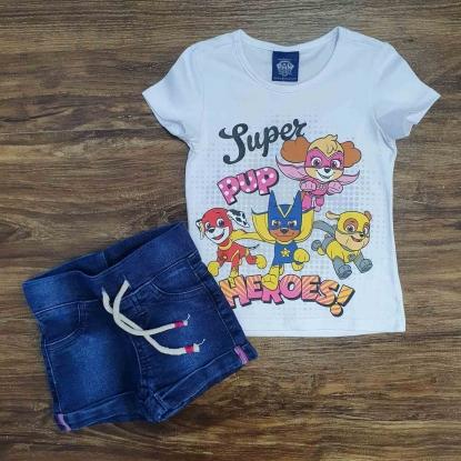 Blusinha Super Heroes com Shorts Infantil