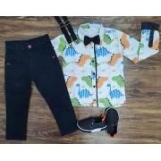 Calça com Camisa Dino Infantil