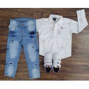 Calça com Camisa Floral Infantil