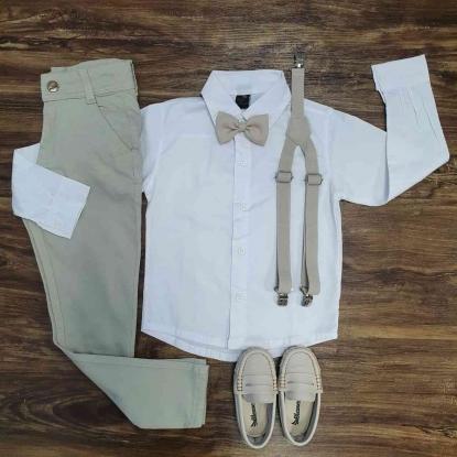 Calça com Camisa Infantil - Roupa Batizado