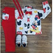 Calça com Camisa Mickey Infantil