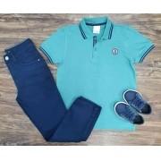 Calça com Camisa Polo Day Infantil