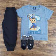 Calça de Moletom com Camiseta Patrulha Canina
