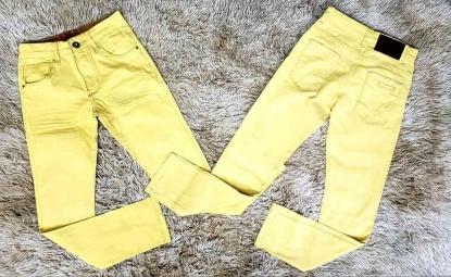 Calça Jeans Amarela