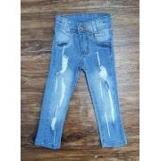 Calça Jeans Clara com Detalhes Infantil