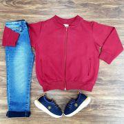 Calça Jeans com Blusa de Moletom Infantil