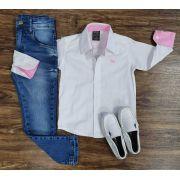 Calça Jeans com Camisa Branca Infantil