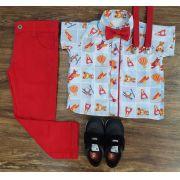 Calça Jeans com Camisa Brinquedos Infantil