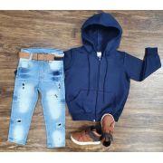 Calça Jeans com Jaqueta Moletom Infantil
