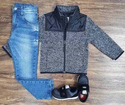 Calça Jeans com Jaqueta Cinza Infantil