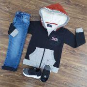 Calça Jeans com Jaqueta de Moletom Infantil