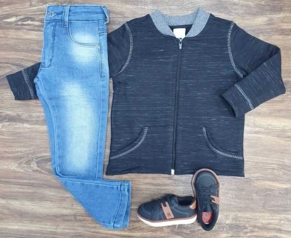Calça Jeans com Jaqueta Infantil