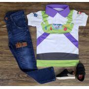 Look Calça Jeans Buzz Lightyear - Toy Story Infantil