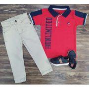Calça Jeans com Polo Infantil
