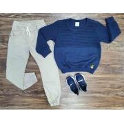 Calça Jogger com Blusa Moletom Infantil