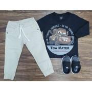 Calça Jogger com Camiseta Carros Infantil