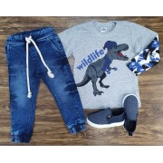 Calça Jogger com Camiseta Wildlife Infantil