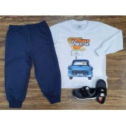 Calça Moletom com Camiseta Drive-In Infantil